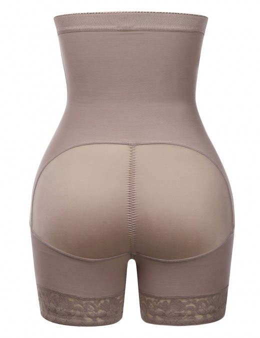 Super Sexy Brown Large Size High Waist Butt Enhancer Hooks Ultimate Stretch