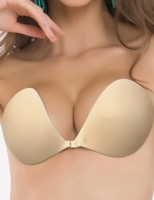 Skin Front Closure Invisible Bra Wireless Silica Gel Super Faddish