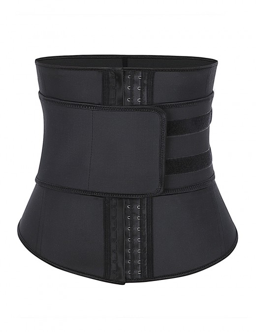 Black Lower Back Adjustable Waist Training Latex Shaper Brace Curve Smoothing