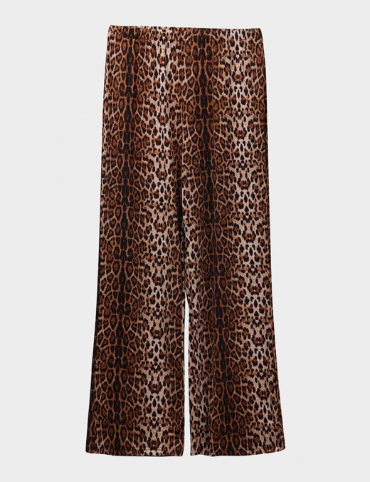 Bold Alphabet Leopard Print 2 Pcs Pajamas Slim Fitting Style