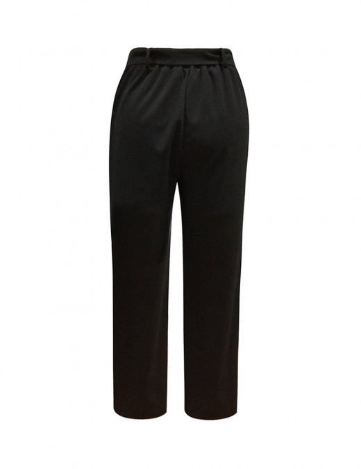 Post Surgery Elastic Waist Straight Trousers Round Buckle Ladies Fashion