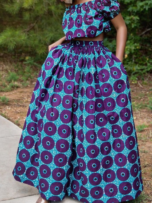 Professional Off Shoulder Two-Piece African Style Leisure