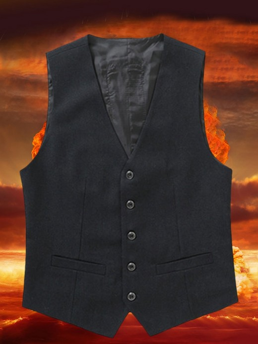 Black USB Charging Heating Men Suit Vest Women Outfits