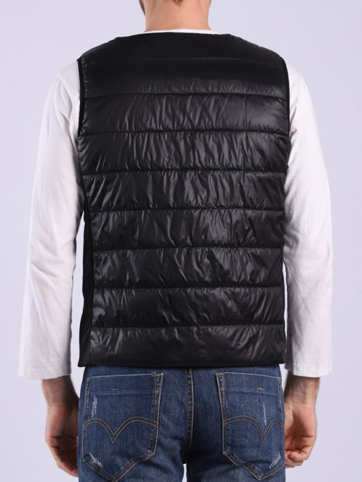 Male Black Smart USB Heating Vest Large Size Vacation Time