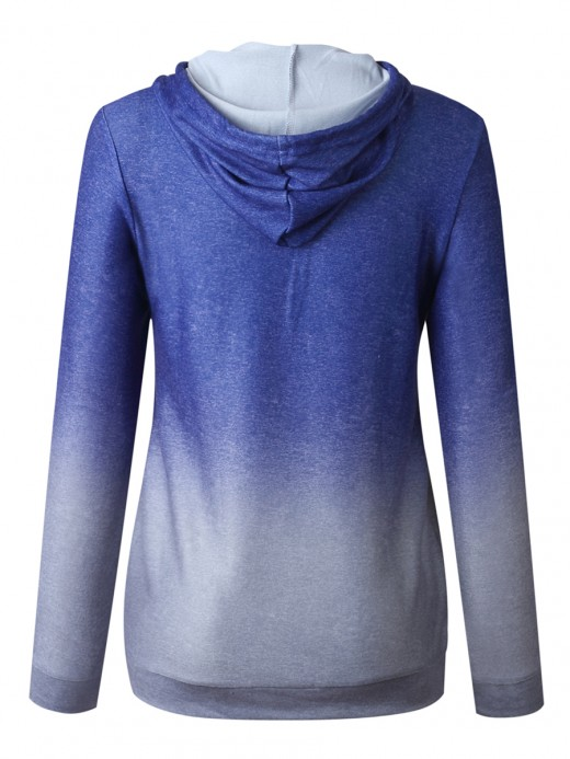 National Blue Hoodie Top Drawstring Long Sleeve Womens Latest Clothes