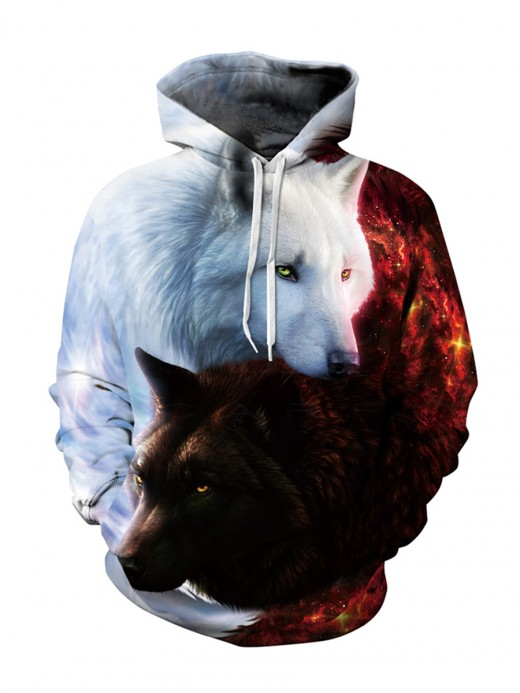 Dreaming Print Large Size Hooded Neck Sweatshirt New Fashion