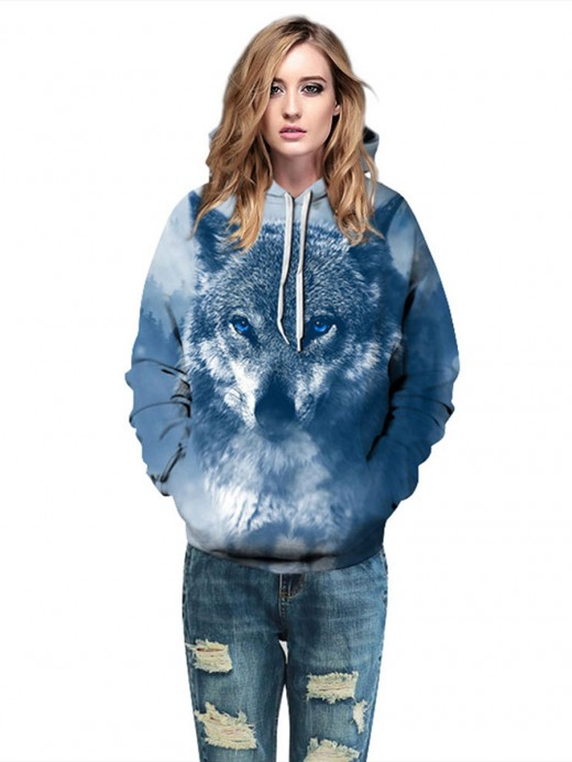Pretty Hooded Neck Couple Sweatshirt Big Size Natural Fashion