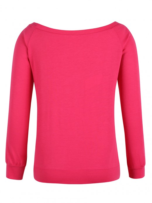 Sophisticated Red Round Collar Sweatshirt Christmas Paint Great Quality