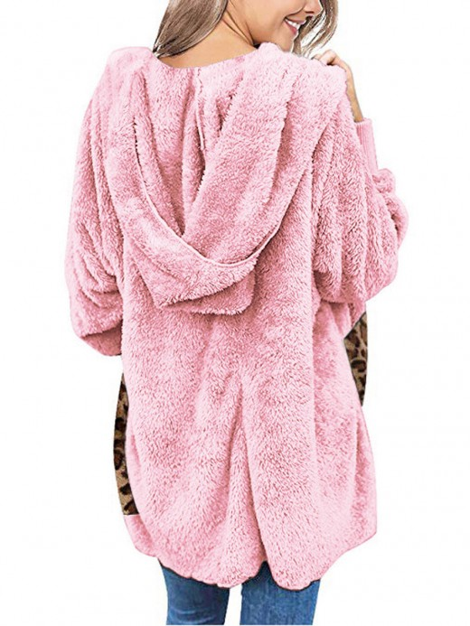Explorer Pink Full Sleeve Polar Fleece Coat Fashion Essential