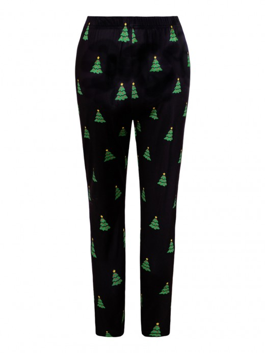 Soft Christmas Trees Pattern Leggings All-Match Style