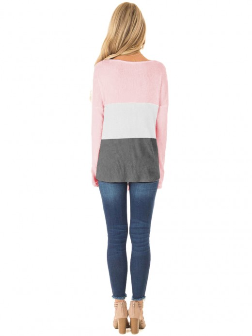 Unique Pocket Long Sleeve Knotted Sweater Shop Online
