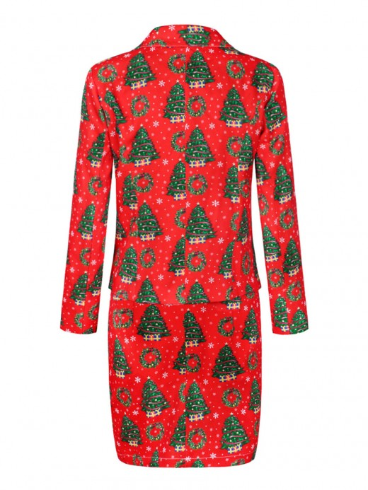 Royal Christmas Suits Long Sleeve High Waist For Playing