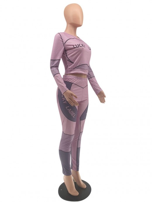 Purple Full Sleeve Shirt High Rise Leggings For Running