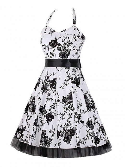 Fabulous Halter Neck Large Size Skater Dress Relax Fit