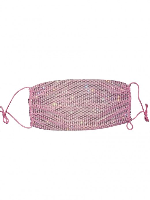 Cheap Ecstasy Pink Breathable Flash Diamond Mask Washable