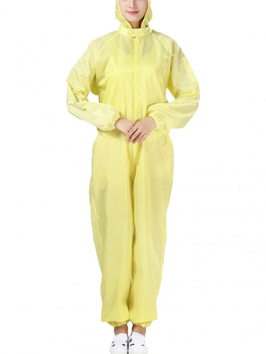 Online Yellow One-Piece Protective Jumpsuit Full Length