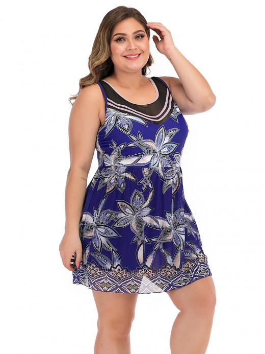 Alluring Blue Hollow Out Beach Dress With Bottoms Leisure Time