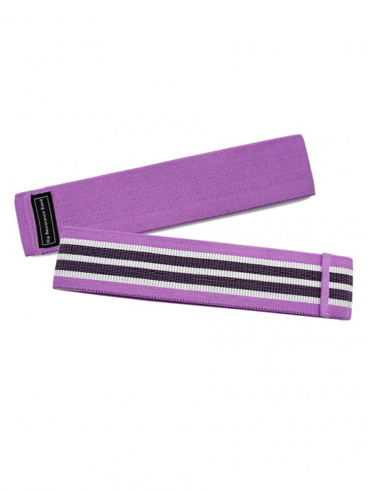 Instantly Slims Purple Contrast Color Hip Resistance Band Light Control
