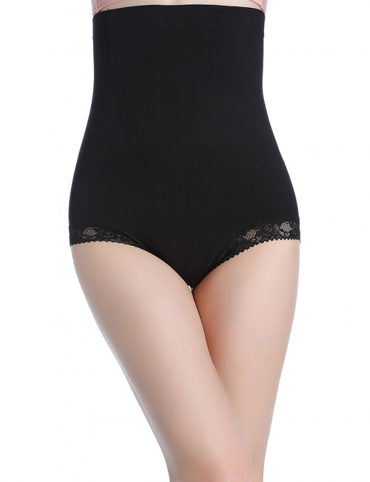 Magnetic Therapy Black High Waist Shaping Briefs Warm Uterus
