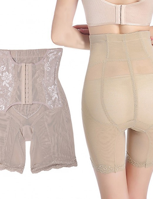 Booty Control High Waist Plus Size Shaping Panties Hook Closures