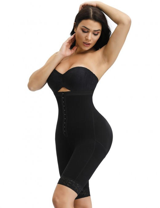 Sensational Black High Waist Hook Front Butt Lifter Shaper Contour