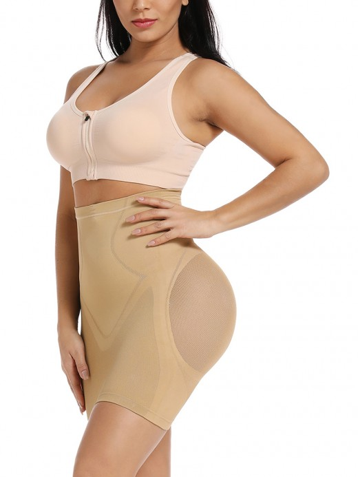Curve Smoothing Skin Flat Tummy High Rise Lace Butt Lifter