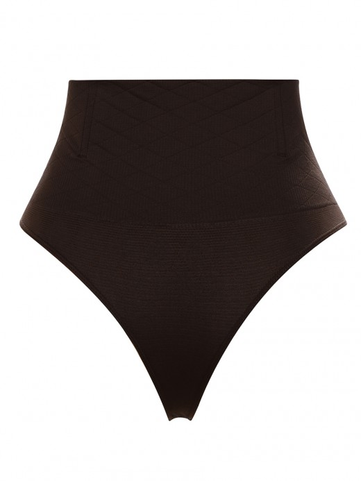 Natural Dark Coffee High Cut Seamless Panty 4 Steel Bones Close Fit