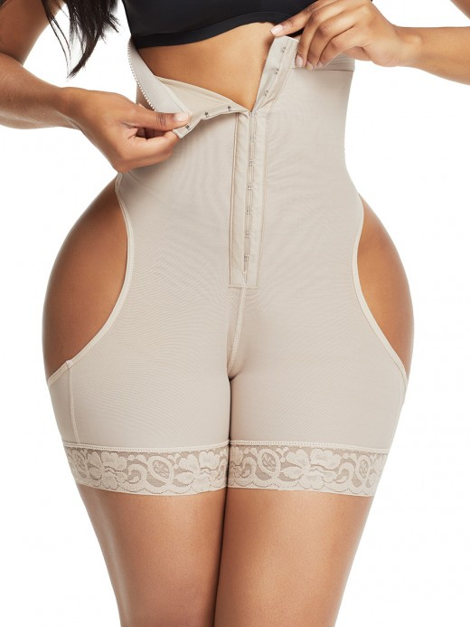 Figure Shaping Skin Color Front Hooks Open Butt Booty Lifter Fitness