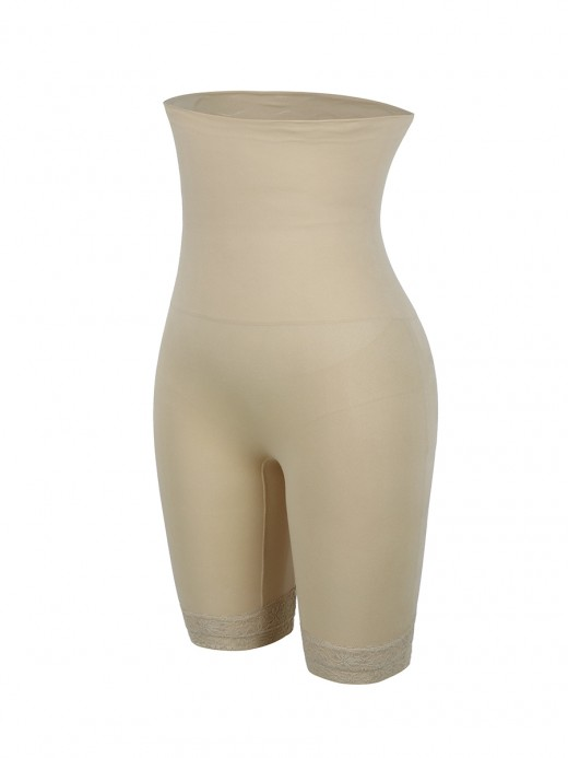 Slimming Belly Skin Color High Rise Shapewear Pants Plus Size