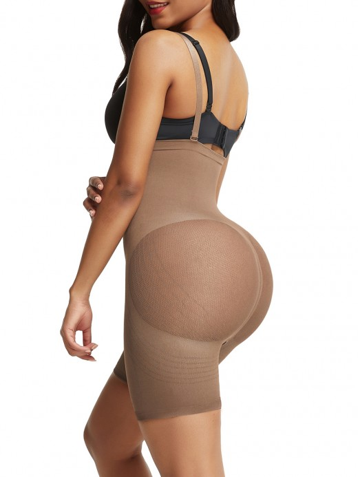 Natural Shaping Light Brown Adjustable Straps Butt Lifter Seamless