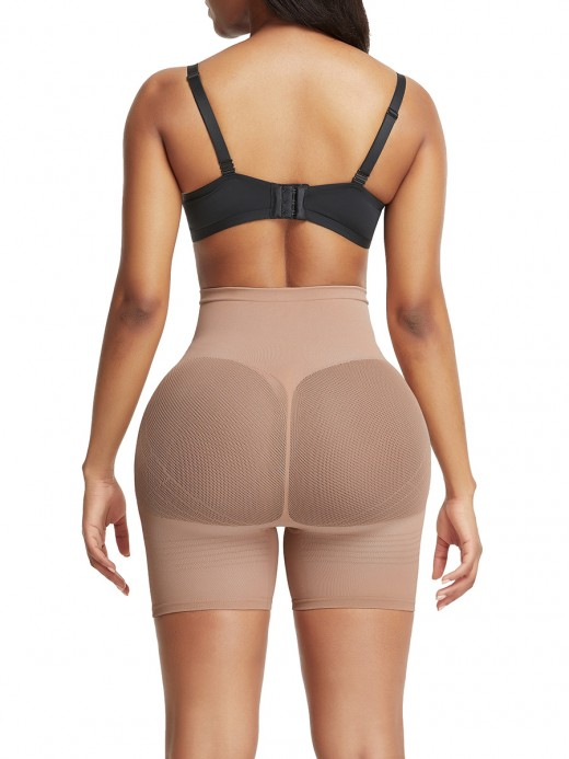 Natural Shaping Skin Color Thigh Length Shorts Shaper High Rise