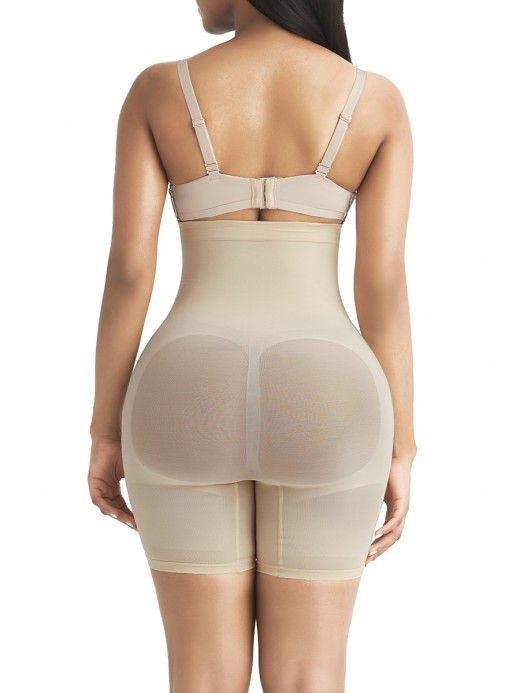 Comfort Devotion Beige Anti-Slip Big Size Seamless Butt Lifter