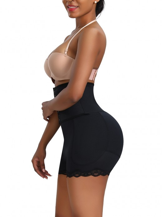 Perfect-Fit Black High Waist Butt Shapewear Large Size