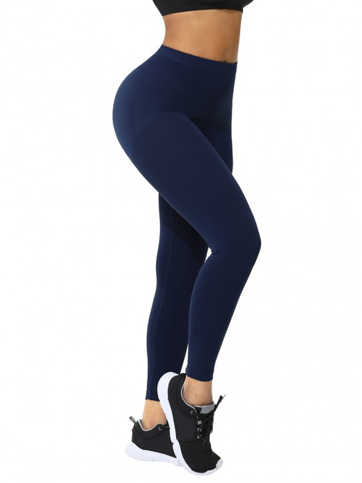 Dark Blue Queen Size Solid Color Leggings Hourglass Figure