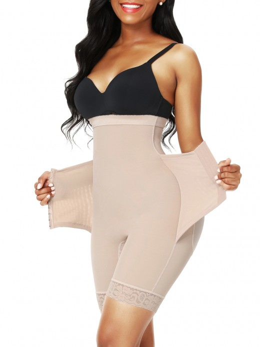 Skin Color High Waist 3 Rows Hooks Butt Lifter Curve Smoothing