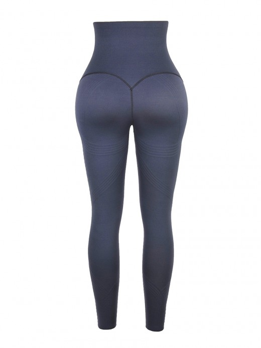 Deep Gray 3D Print Shapewear Pants High Waist High-Compression