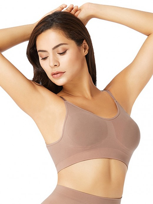 Nude Seamless Shaper Bra Adjusatble Straps Light Control