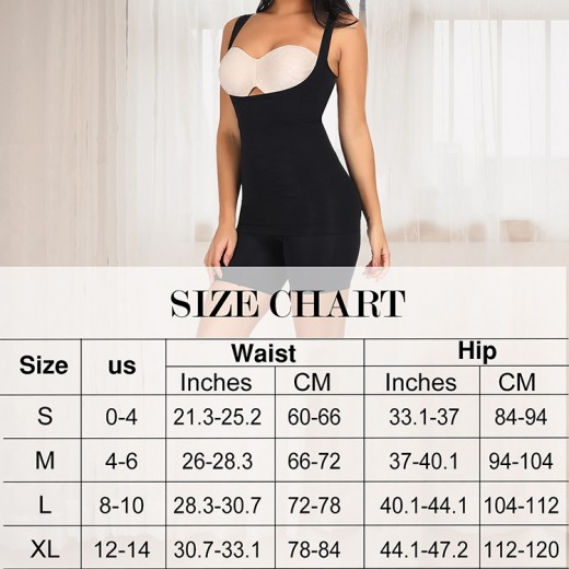 Cheap Black Seamless Underbust Shaping Top With Panty Curve Smoothing
