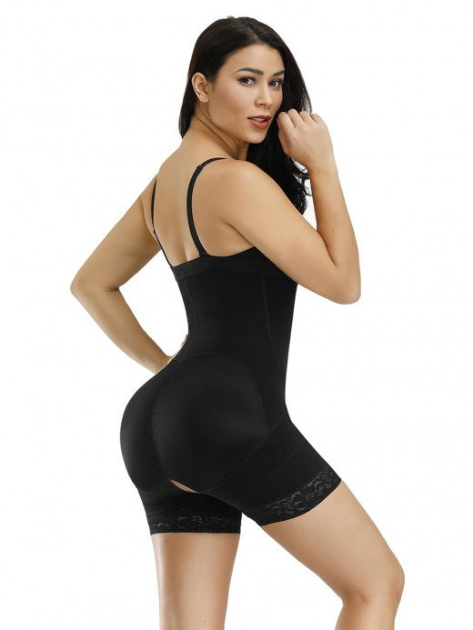 Higher Power Black Detachable Straps Full Body Shaper Big Size Tummy Trimmer