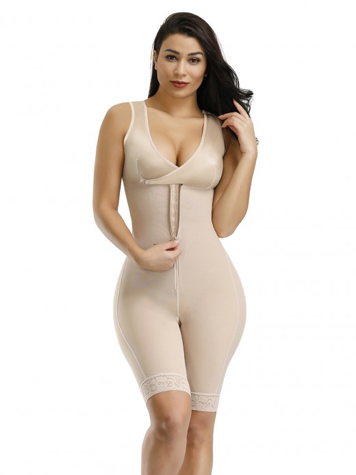 Streamlined Skin Zipper Hook Bodysuit Large Size Wide Straps Amazing Shape
