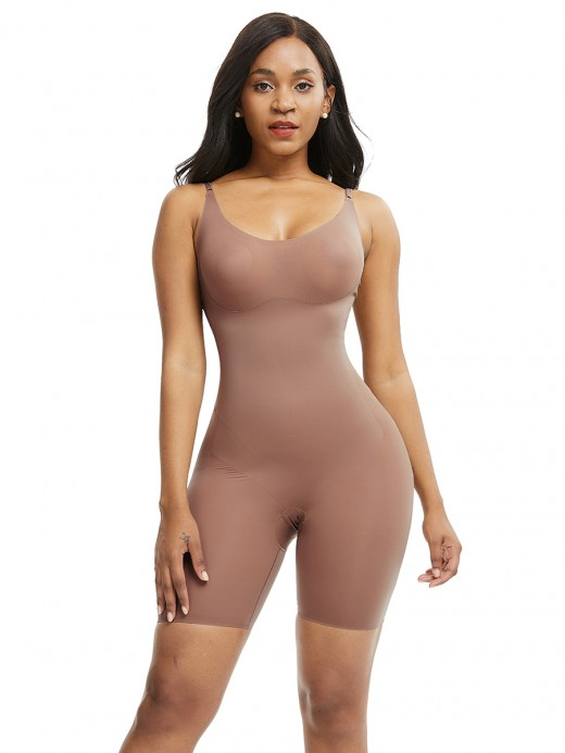 Pretty Skin Color Large Size Full Body Shaper Solid Color Smoothlines