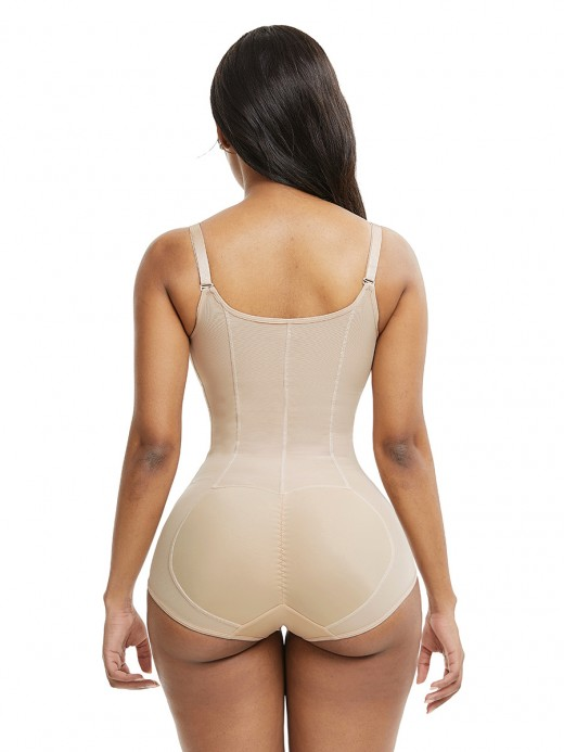 Seamless Skin Color Full Body Shaper Adjustable Straps Big Size Tummy Training