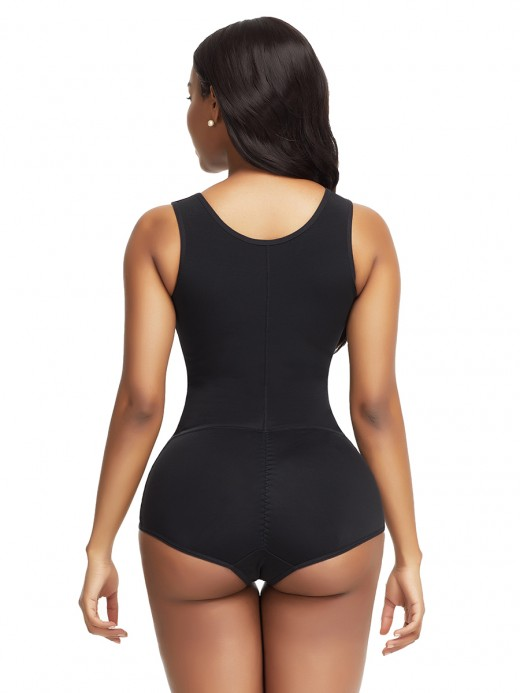 Exquisitely Black High Waist Body Shaper Shoulder Hooks Tummy Slimmer