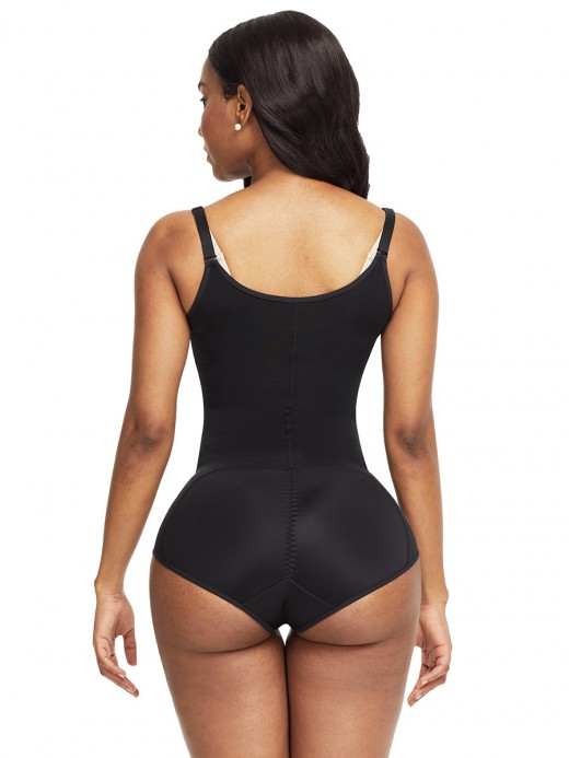 Body-Hugging Black Crotch Hooks High Waist Body Shaper Instantly Slims
