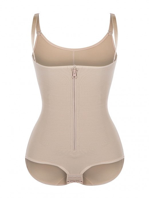Skin Color Adjustable Straps Underbust Bodysuit Delightful Garment