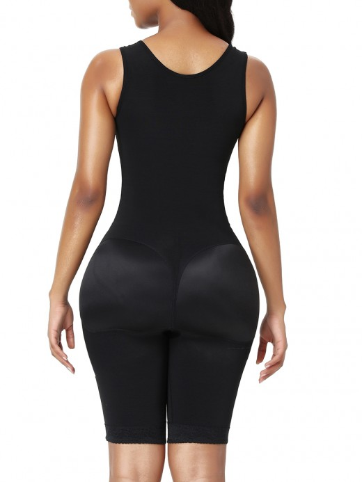 Best Body Shaper Lace Black Open Crotch Abdominal Control