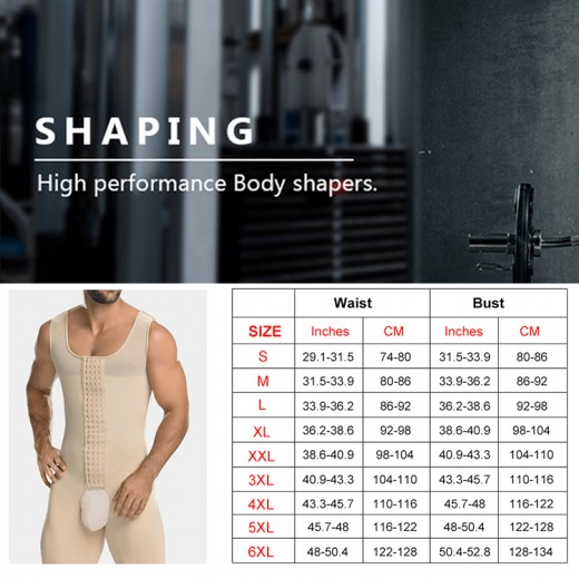 Flawlessly Nude Big Size Hooks Mens Body Shaper Open Crotch Sleek Smoothers