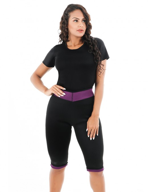 Reversible Full Size Short Sleeve Shapewear Two Piece