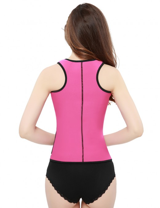 Double Compression Pink Neoprene Vest Slim Shaper With Belt