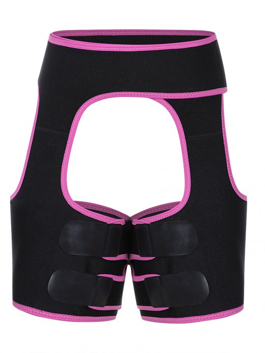 Rose Red Sticker Open Butt Neoprene Thigh Shaper Curve Smoothing